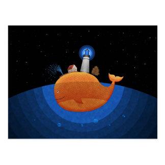 Carte Postale Baleine (nuit)