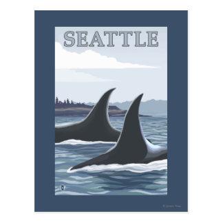 Carte Postale Baleines #1 - Seattle, Washington d'orque