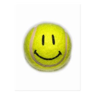 Carte Postale Balle de tennis souriante de visage