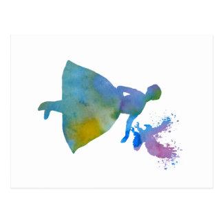 Carte Postale Ballerine avec l'aigle