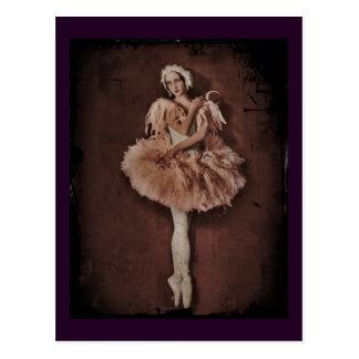 Carte Postale Ballerine de lac swan