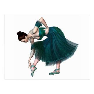 Carte Postale Ballerine en vert