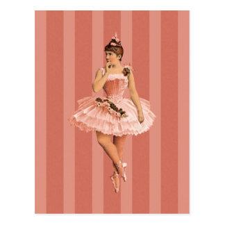 Carte Postale Ballerine victorienne rose