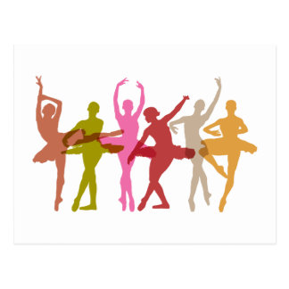 Carte Postale Ballerines colorées de danse