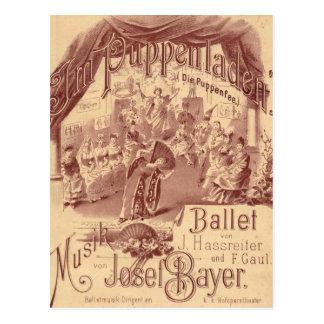 Carte Postale Ballet féerique de poupée - meurent Puppenfee -