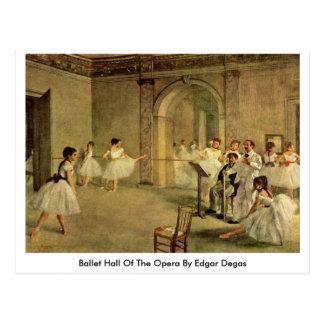 Carte Postale Ballet Hall de l'opéra par Edgar Degas