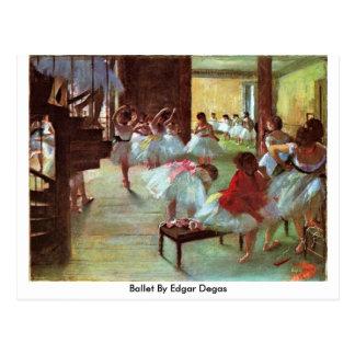 Carte Postale Ballet par Edgar Degas