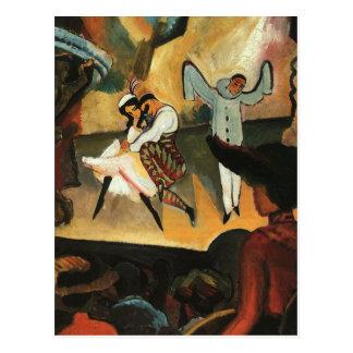 Carte Postale Ballet russe avant août Macke