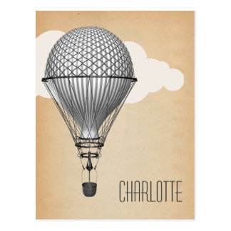 Carte Postale Ballon à air chaud de Steampunk