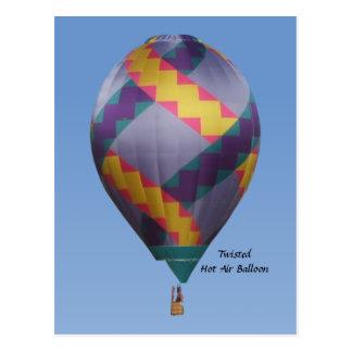 Carte Postale Ballon à air chaud tordu