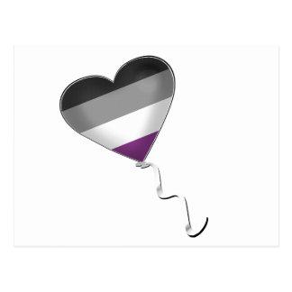 Carte Postale Ballon asexuel de coeur de fierté