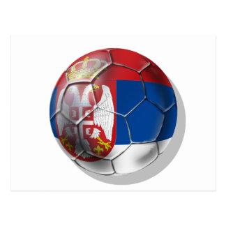 Carte Postale Ballon de football serbe pour tous les amants de