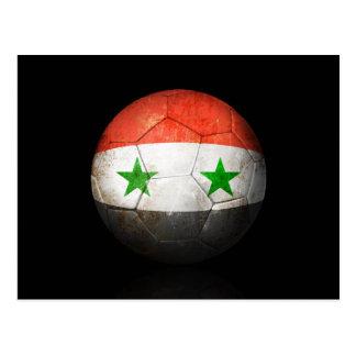 Carte Postale Ballon de football syrien usé du football de