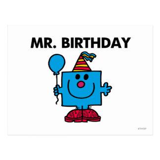 Carte Postale Ballon de joyeux anniversaire de M. Birthday |