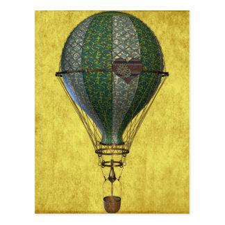 Carte Postale Ballon victorien de Steampunk