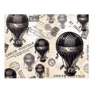 Carte Postale ballons à air chauds français vintages modernes