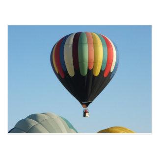 Carte Postale Ballons à air chauds multicolores
