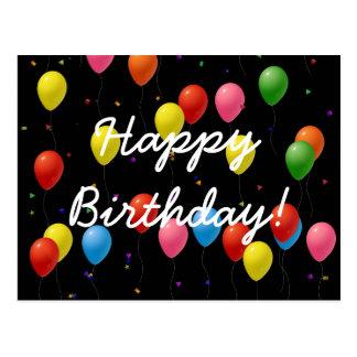 Carte Postale Ballons de joyeux anniversaire