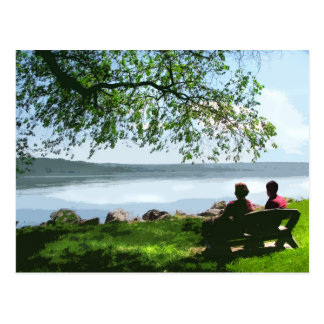 Carte Postale Banc de lac Cayuga