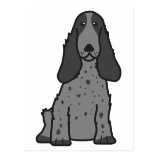 Carte Postale Bande dessinée anglaise de chien de cocker
