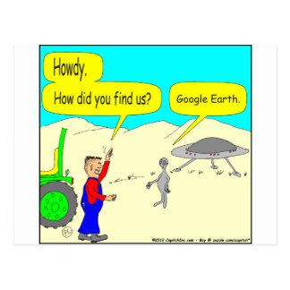 Carte Postale Bande dessinée de 280 Google Earth en couleurs