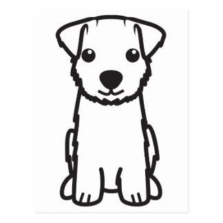 Carte Postale Bande dessinée de chien de Norfolk Terrier