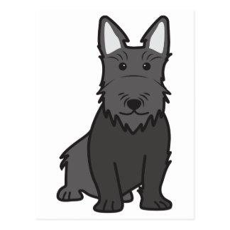 Carte Postale Bande dessinée de chien de Terrier d'écossais