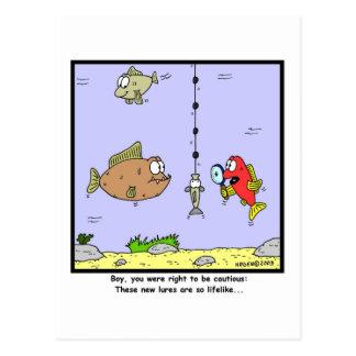 Carte Postale Bande dessinée de pêche : Attraits