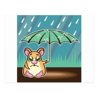 Carte Postale Bande dessinée sans abri de hamster