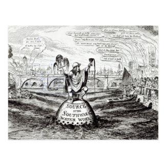 Carte Postale Bande dessinée satirique au sujet de la compagnie