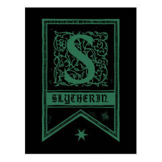 Carte Postale Bannière de monogramme de Harry Potter | Slytherin