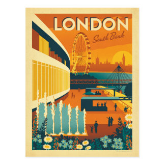 Carte Postale Banque du sud, Londres