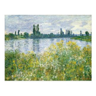 Carte Postale Banques de Claude Monet | de la Seine, Vetheuil,