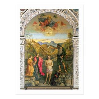 Carte Postale Baptême du Christ, retable de St John