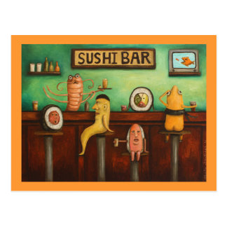 Carte Postale Bar à sushis