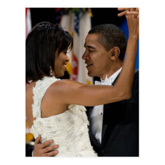 Carte Postale Barack et Michelle Obama