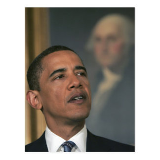 Carte Postale Barack Obama annoncent son intention pour nommer