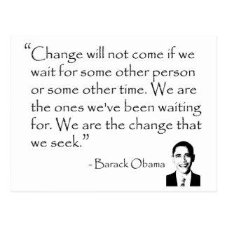 Carte Postale Barack Obama - CHANGEZ les marchandises
