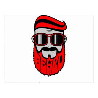Carte Postale barbe rouge
