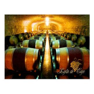 Carte Postale Barils de vin dans la cave, Lujan de Cuyo,