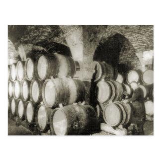 Carte Postale Barils de vin de vinification