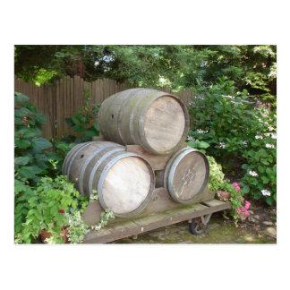 Carte Postale Barils de vin - pays de vin