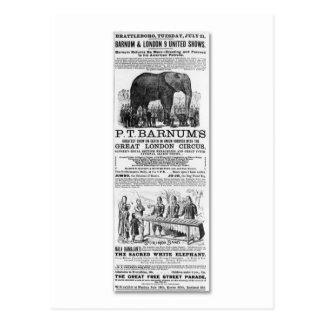 Carte Postale Barnum et annonce unie d'expositions de Londres 9