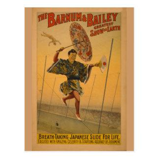 Carte Postale Barnum et glissière de Bailey pour l'affiche de