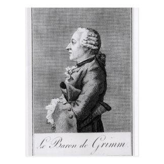 Carte Postale Baron Friedrich Melchior Grimm