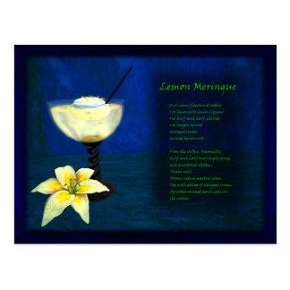 Carte Postale Barre de cocktail de dragons : Meringue de citron
