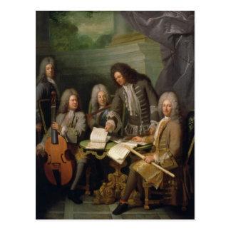 Carte Postale Barre de La et d'autres musiciens, c.1710