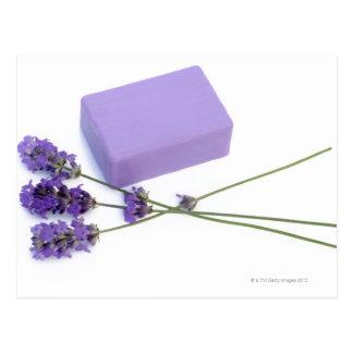 Carte Postale Barre de savon de lavande faite à partir des