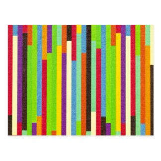 Carte Postale Barre le rétro arrière - plan abstrait coloré de