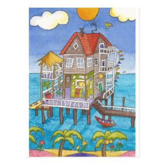 Carte Postale Barre sur l'eau